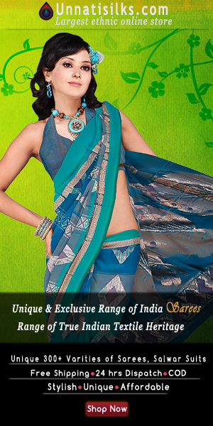 Online Ethnic Shopping Store for Exclusive Indian Sarees and Salwar Kameez. Shop Now at www.unnatisilks.com